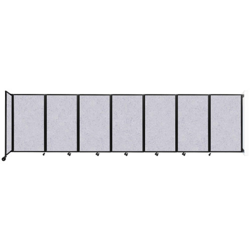 """Wall-Mounted Room Divider 360 Folding Partition 19'6"""" x 5' Marble Gray High Density Polyester"""