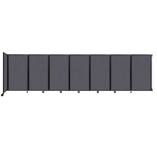 """Wall-Mounted Room Divider 360 Folding Partition 19'6"""" x 5' Dark Gray High Density Polyester"""