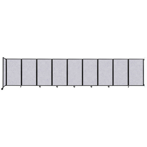 Wall-Mounted Room Divider 360 Folding Partition 25' x 5' Marble Gray High Density Polyester