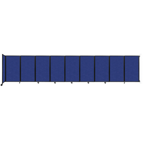 Wall-Mounted Room Divider 360 Folding Partition 25' x 5' Blue High Density Polyester