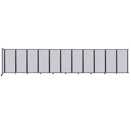 """Wall-Mounted Room Divider 360 Folding Partition 30'6"""" x 6' Marble Gray High Density Polyester"""