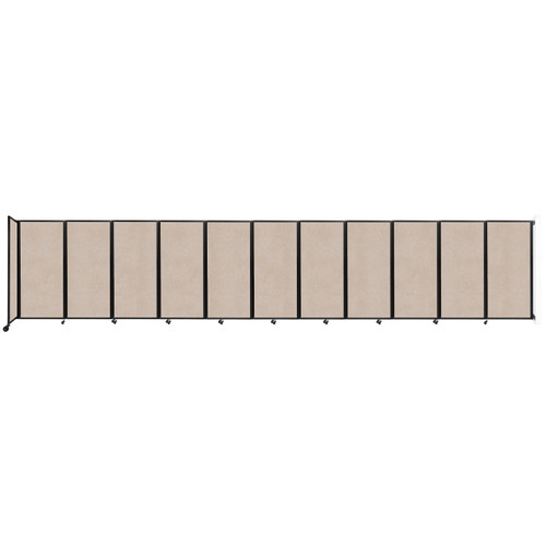 """Wall-Mounted Room Divider 360 Folding Partition 30'6"""" x 6' Beige High Density Polyester"""
