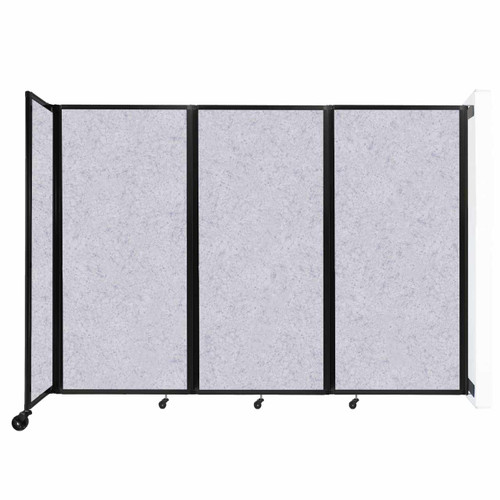 """Wall-Mounted Room Divider 360 Folding Partition 8'6"""" x 6' Marble Gray High Density Polyester"""