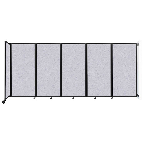 Wall-Mounted Room Divider 360 Folding Partition 14' x 6' Marble Gray High Density Polyester