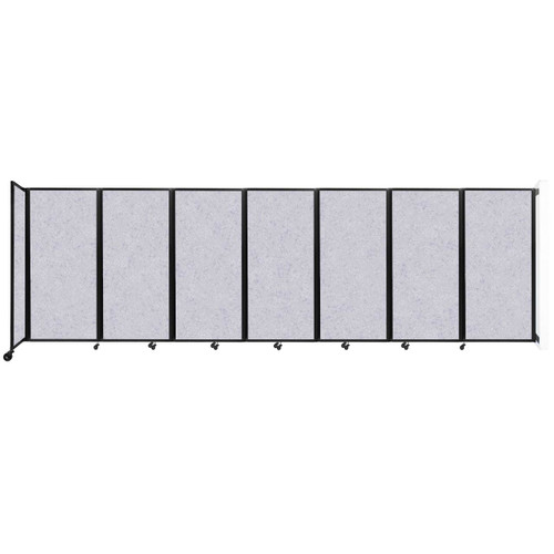 """Wall-Mounted Room Divider 360 Folding Partition 19'6"""" x 6' Marble Gray High Density Polyester"""