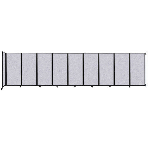 Wall-Mounted Room Divider 360 Folding Partition 25' x 6' Marble Gray High Density Polyester