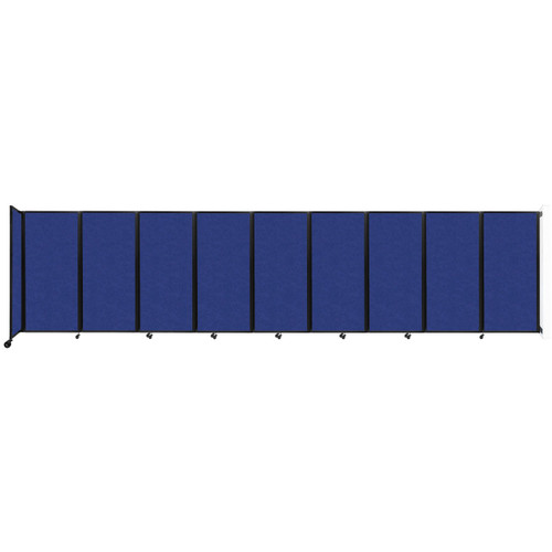 Wall-Mounted Room Divider 360 Folding Partition 25' x 6' Blue High Density Polyester
