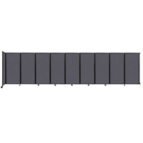 Wall-Mounted Room Divider 360 Folding Partition 25' x 6' Dark Gray High Density Polyester
