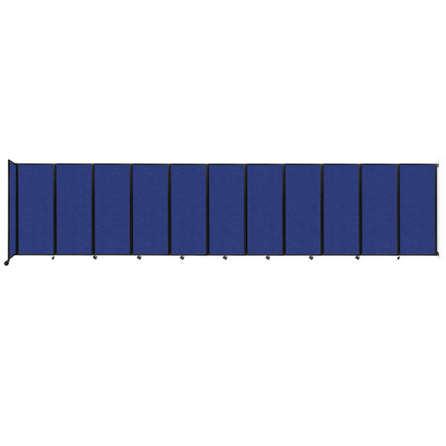 """Wall-Mounted Room Divider 360 Folding Partition 30'6"""" x 6'10"""" Blue High Density Polyester"""