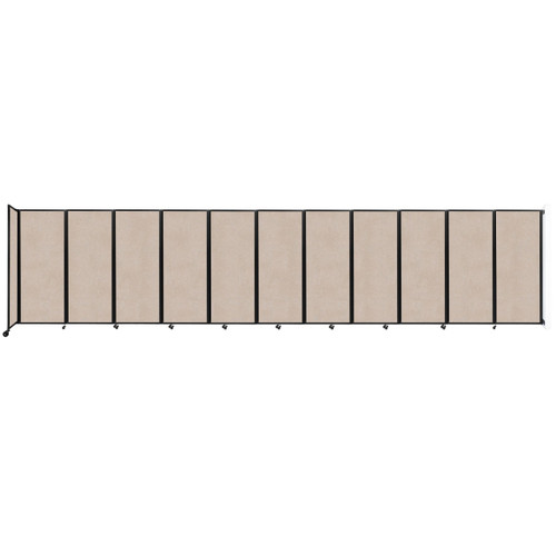 """Wall-Mounted Room Divider 360 Folding Partition 30'6"""" x 6'10"""" Beige High Density Polyester"""