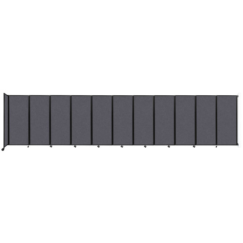 """Wall-Mounted Room Divider 360 Folding Partition 30'6"""" x 6'10"""" Dark Gray High Density Polyester"""