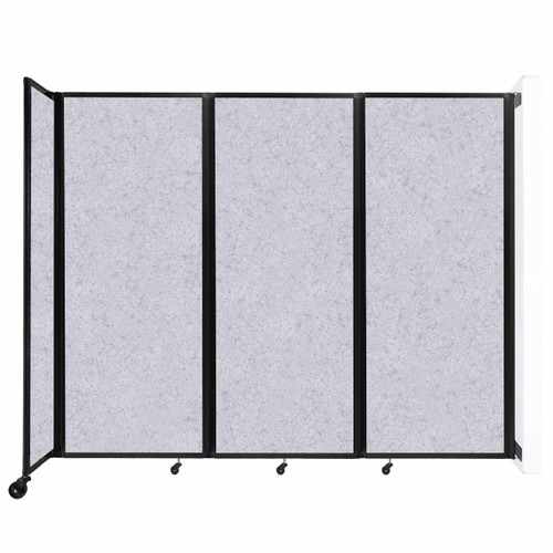 """Wall-Mounted Room Divider 360 Folding Partition 8'6"""" x 6'10"""" Marble Gray High Density Polyester"""