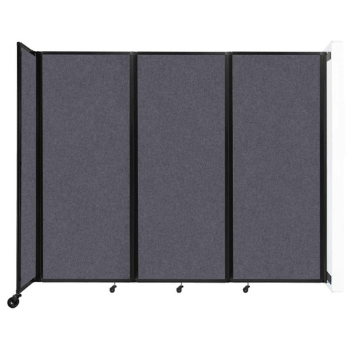 """Wall-Mounted Room Divider 360 Folding Partition 8'6"""" x 6'10"""" Dark Gray High Density Polyester"""