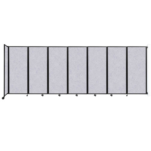 """Wall-Mounted Room Divider 360 Folding Partition 19'6"""" x 6'10"""" Marble Gray High Density Polyester"""