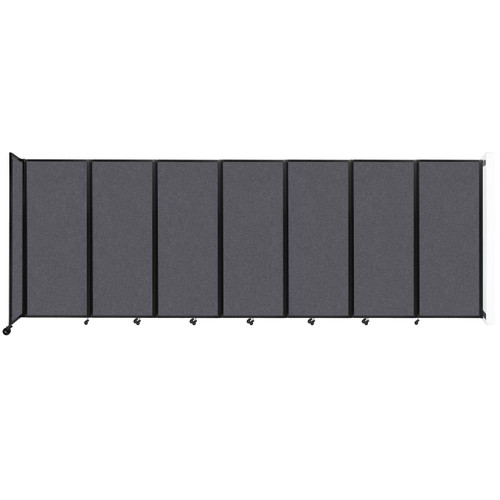 """Wall-Mounted Room Divider 360 Folding Partition 19'6"""" x 6'10"""" Dark Gray High Density Polyester"""