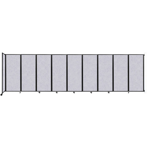 """Wall-Mounted Room Divider 360 Folding Partition 25' x 6'10"""" Marble Gray High Density Polyester"""