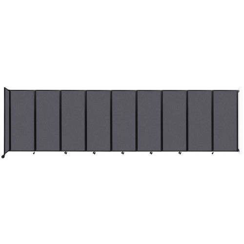 """Wall-Mounted Room Divider 360 Folding Partition 25' x 6'10"""" Dark Gray High Density Polyester"""