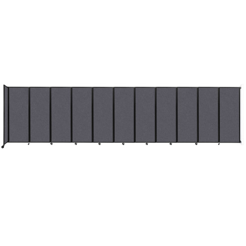 """Wall-Mounted Room Divider 360 Folding Partition 30'6"""" x 7'6"""" Dark Gray High Density Polyester"""