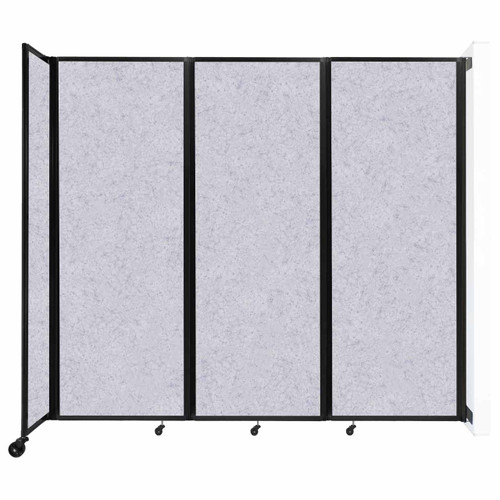 """Wall-Mounted Room Divider 360 Folding Partition 8'6"""" x 7'6"""" Marble Gray High Density Polyester"""