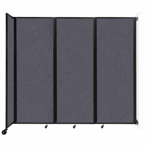 """Wall-Mounted Room Divider 360 Folding Partition 8'6"""" x 7'6"""" Dark Gray High Density Polyester"""