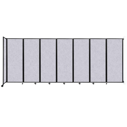 """Wall-Mounted Room Divider 360 Folding Partition 19'6"""" x 7'6"""" Marble Gray High Density Polyester"""