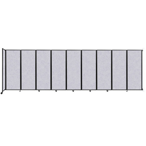 """Wall-Mounted Room Divider 360 Folding Partition 25' x 7'6"""" Marble Gray High Density Polyester"""