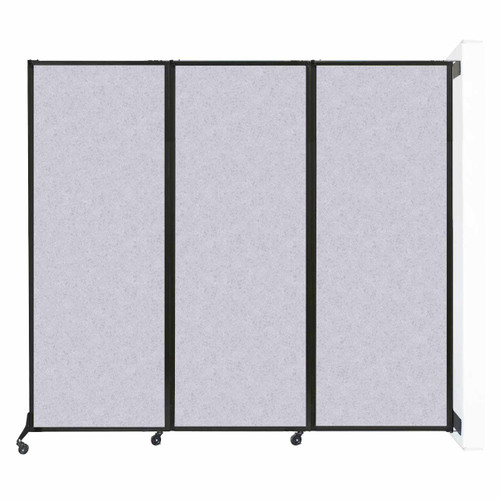 "Wall-Mounted QuickWall Folding Partition 8'4"" x 7'4"" Marble Gray High Density Polyester"