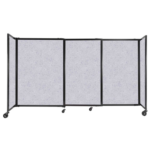 """StraightWall Sliding Portable Partition 7'2"""" x 4' Marble Gray High Density Polyester"""