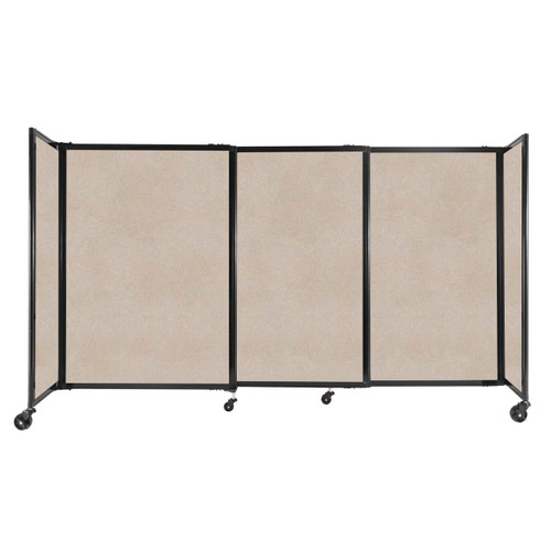 """StraightWall Sliding Portable Partition 7'2"""" x 4' Beige High Density Polyester"""