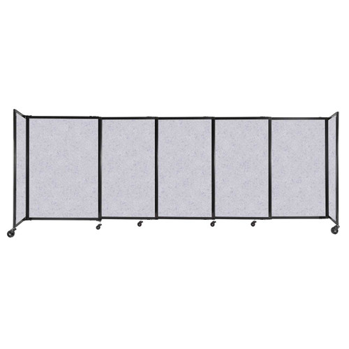"""StraightWall Sliding Portable Partition 11'3"""" x 4' Marble Gray High Density Polyester"""