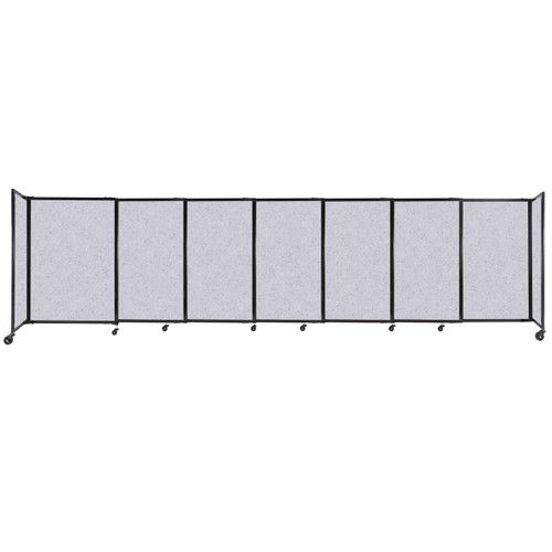 """StraightWall Sliding Portable Partition 15'6"""" x 4' Marble Gray High Density Polyester"""