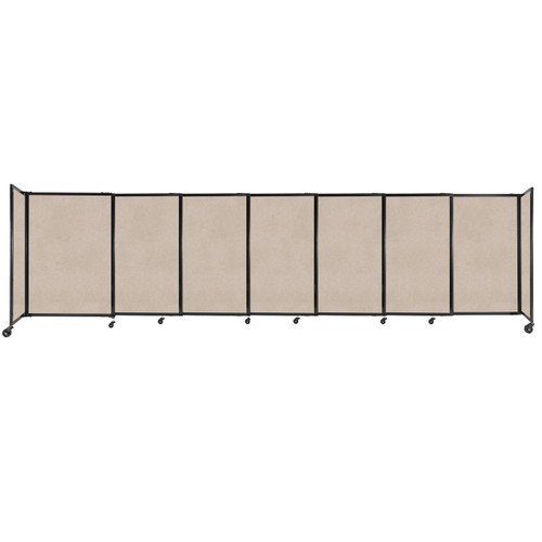"""StraightWall Sliding Portable Partition 15'6"""" x 4' Beige High Density Polyester"""