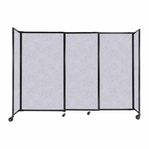 """StraightWall Sliding Portable Partition 7'2"""" x 5' Marble Gray High Density Polyester"""