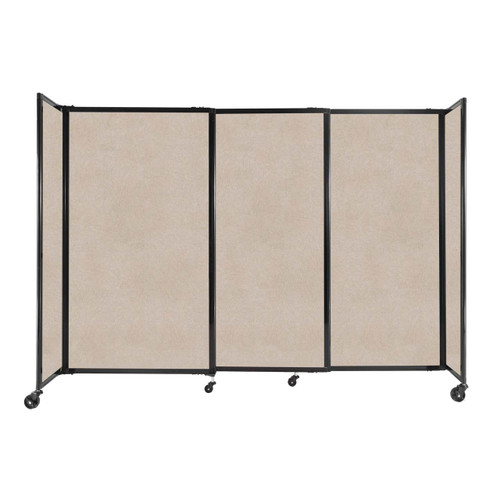 """StraightWall Sliding Portable Partition 7'2"""" x 5' Beige High Density Polyester"""