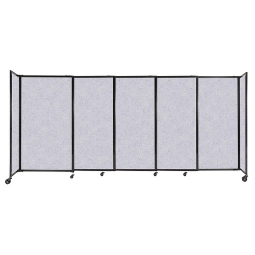 """StraightWall Sliding Portable Partition 11'3"""" x 5' Marble Gray High Density Polyester"""