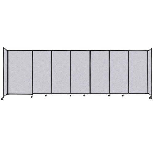 """StraightWall Sliding Portable Partition 15'6"""" x 5' Marble Gray High Density Polyester"""