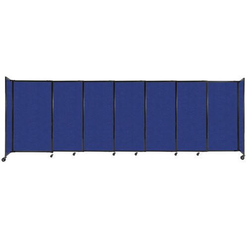 """StraightWall Sliding Portable Partition 15'6"""" x 5' Blue High Density Polyester"""