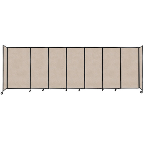 """StraightWall Sliding Portable Partition 15'6"""" x 5' Beige High Density Polyester"""