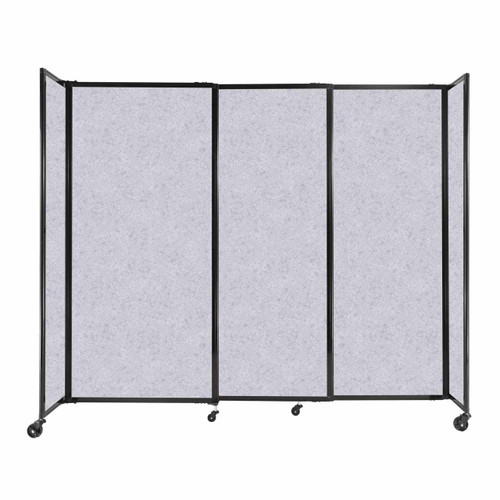 """StraightWall Sliding Portable Partition 7'2"""" x 6' Marble Gray High Density Polyester"""