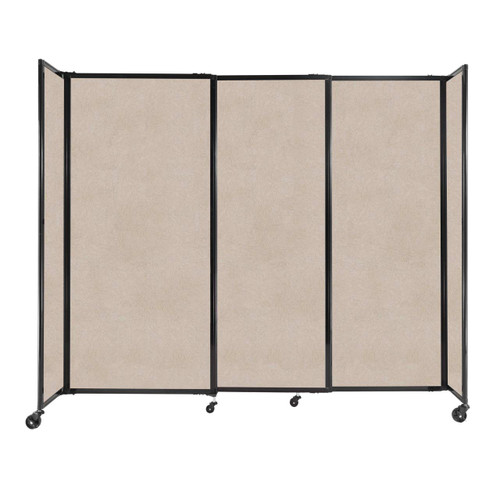 """StraightWall Sliding Portable Partition 7'2"""" x 6' Beige High Density Polyester"""