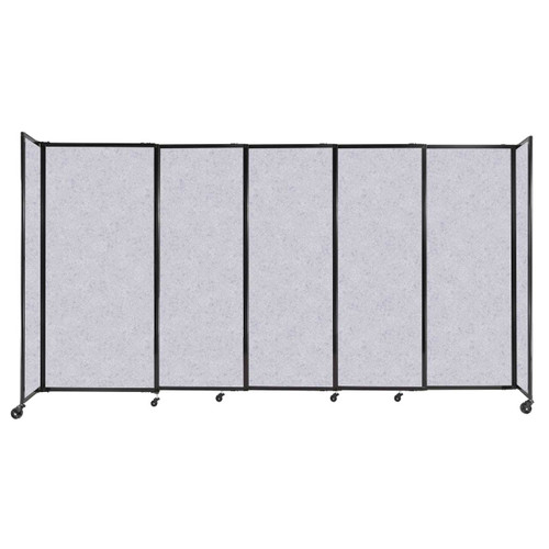 """StraightWall Sliding Portable Partition 11'3"""" x 6' Marble Gray High Density Polyester"""