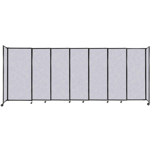 """StraightWall Sliding Portable Partition 15'6"""" x 6' Marble Gray High Density Polyester"""