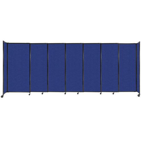 """StraightWall Sliding Portable Partition 15'6"""" x 6' Blue High Density Polyester"""