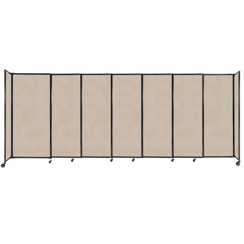 """StraightWall Sliding Portable Partition 15'6"""" x 6' Beige High Density Polyester"""
