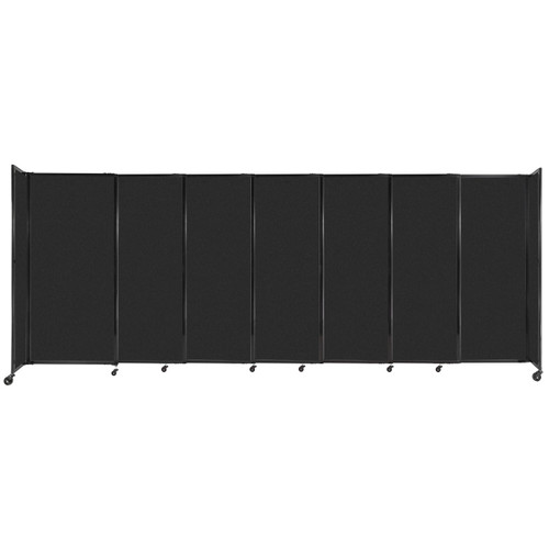 """StraightWall Sliding Portable Partition 15'6"""" x 6' Black High Density Polyester"""