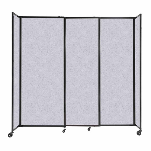 """StraightWall Sliding Portable Partition 7'2"""" x 6'10"""" Marble Gray High Density Polyester"""