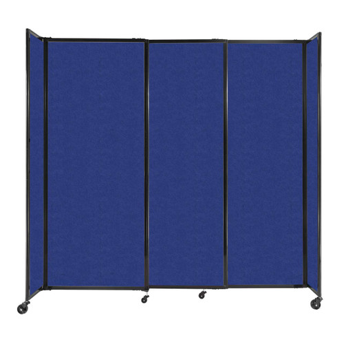"""StraightWall Sliding Portable Partition 7'2"""" x 6'10"""" Blue High Density Polyester"""