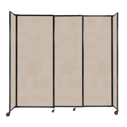 """StraightWall Sliding Portable Partition 7'2"""" x 6'10"""" Beige High Density Polyester"""