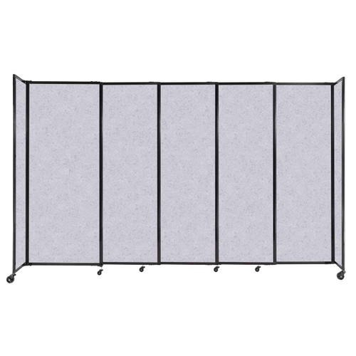 """StraightWall Sliding Portable Partition 11'3"""" x 6'10"""" Marble Gray High Density Polyester"""