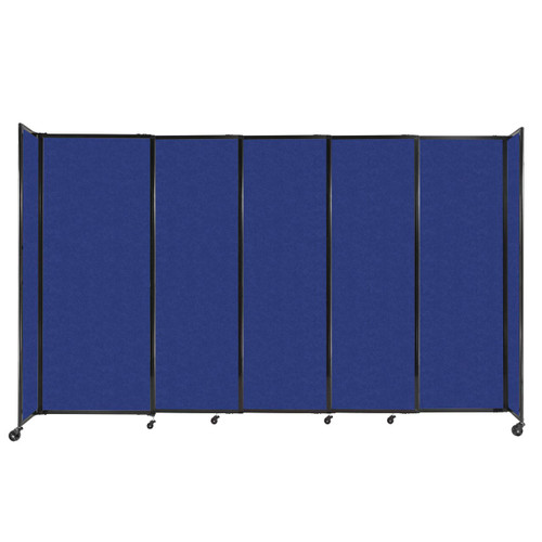 """StraightWall Sliding Portable Partition 11'3"""" x 6'10"""" Blue High Density Polyester"""